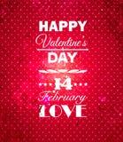 Glücklicher Valentinsgruß-Tageshintergrund. Stockbilder