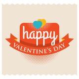 Glücklicher Valentinsgruß Valentinsgrußgrußwörter Lizenzfreies Stockfoto