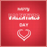 Glücklicher Valentinsgrußtag auf rotem Muster Stockfotos