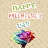 Glücklicher Valentinsgrußtag des Textes in der zeitgenössischen Collage stockbild
