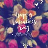 Glücklicher Valentinsgrußtag - Grußkarte vektor abbildung
