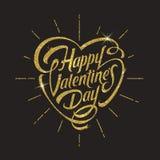 Glücklicher Valentinsgrußtag - Grußkarte stock abbildung