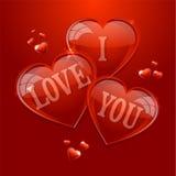 Glücklicher Valentinsgrußtag. Ich liebe dich stock abbildung