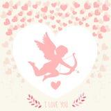 Glücklicher Valentinsgrußtag Karte knirschend Stockfoto