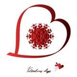 Glücklicher Valentinsgrußtag, Vektorkarte stockfotografie
