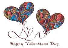 Glücklicher Valentinsgrußtag, Vektorkarte stockfoto