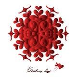 Glücklicher Valentinsgrußtag, Vektorkarte stockfotos