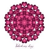 Glücklicher Valentinsgrußtag, Vektorkarte stockbilder