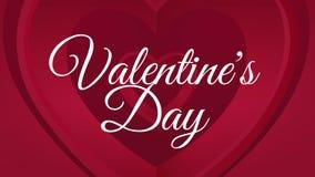 Glücklicher Valentinsgrußtagestext mit Herzen stock abbildung