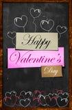 Glücklicher Valentinstag auf Tafel lizenzfreie abbildung