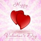 Glücklicher Valentinstag-Blumenkarte Stockbilder