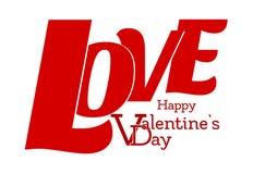 Glücklicher Valentinstag - LIEBE - Buchstaben 3D stock abbildung