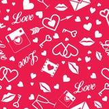 Glücklicher Valentinstag! Nahtloses Muster des Vektors Lizenzfreies Stockfoto