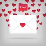 Glücklicher Valentinstag-Umschlag stock abbildung