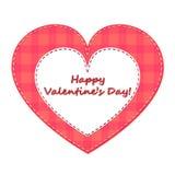 Glücklicher Valentinstag! Valentinsgruß vom Gewebe lizenzfreies stockfoto