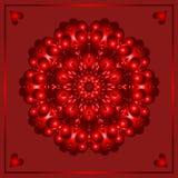 Glücklicher Valentinstag, Vektorpostkarte, Glückwunschvektorkarte stockbilder