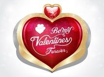 Glücklicher Valentinstagherzhintergrund mit Blumen Stockfotos