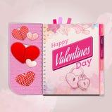 Glücklicher Valentinstaghintergrund Stockbilder
