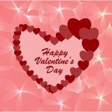 Glücklicher Valentinstaghintergrund Â-Valentinsgruß oder Liebesmitteilung lizenzfreie abbildung