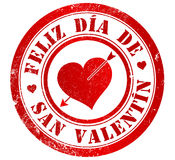 Glücklicher Valentinstagstempel Lizenzfreies Stockbild