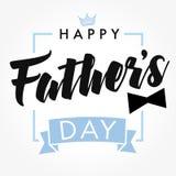 Glücklicher Vater ` s Tagesvektor-Beschriftungshintergrund Lizenzfreies Stockfoto