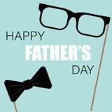 glücklicher Vatertags-Grußkarten-Fotosatz stock abbildung