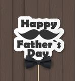 Glücklicher Vatertagshintergrund Beste Vati-Vektor-Illustration Lizenzfreies Stockbild