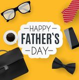 Glücklicher Vatertagshintergrund Beste Vati-Vektor-Illustration Lizenzfreie Stockfotos