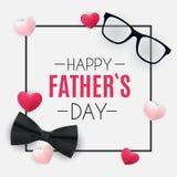 Glücklicher Vatertagshintergrund Beste Vati-Vektor-Illustration Lizenzfreies Stockfoto