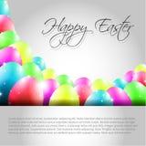 Glücklicher Vektor-Ostern-Hintergrund mit bunten Eiern Stockfoto