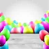 Glücklicher Vektor-Ostern-Hintergrund mit bunten Eiern Lizenzfreies Stockbild