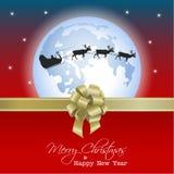 Glücklicher Vektor-Weihnachtshintergrund Stockbilder