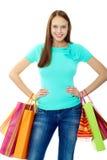 Glücklicher Verbraucher Stockfoto