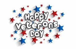 Glücklicher Veteranen-Tag Stockbild
