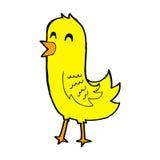 glücklicher Vogel der komischen Karikatur Lizenzfreie Stockfotografie