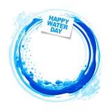 Glücklicher Wassertag Stockfoto