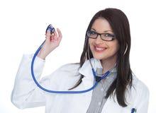 Glücklicher weiblicher Doktor Stockfotografie