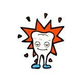 glücklicher Zahn der komischen Karikatur Stockfotografie