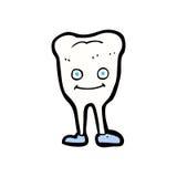 glücklicher Zahn der komischen Karikatur Lizenzfreies Stockfoto