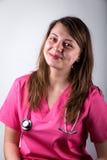 Glückliches Ärztinlächeln Lizenzfreies Stockfoto
