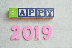 Glückliches 2019 Stockfoto