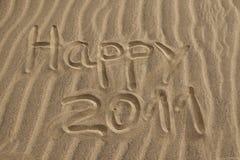 Glückliches 2011 Stockbild