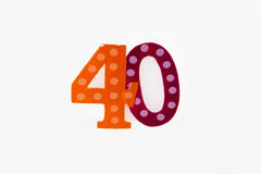 Glückliches 40. Lizenzfreies Stockfoto
