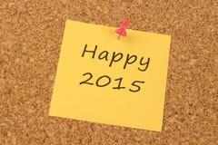Glückliches 2015 Stockbild