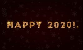 Glückliches 2020! Lizenzfreies Stockbild