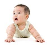 Glückliches asiatisches Baby lizenzfreies stockbild