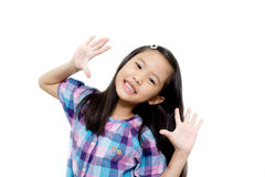 Glückliches asiatisches Kind Stockbild