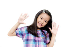 Glückliches asiatisches Kind stockfotos