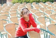 Glückliches asiatisches Mädchen Stockfotos