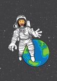 Glückliches astronot Stockbilder